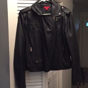 Faux-Leather Moto